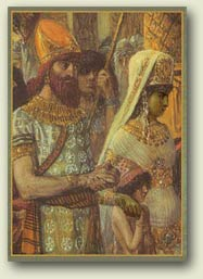 Painting of King Solomon and Queen Sheba